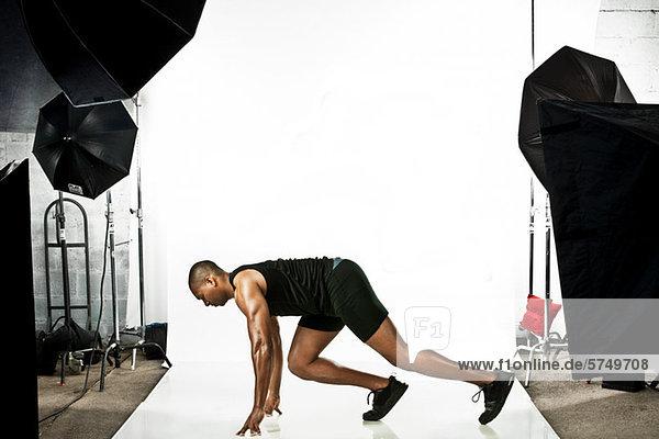 Sprinter at photo shoot