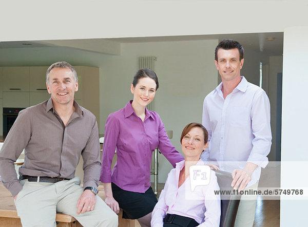 Vier Geschäftsleute  Portrait