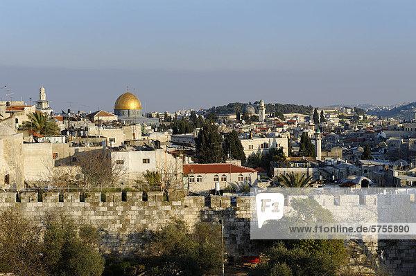 Felsendom  Jerusalem  Altstadt  vom Paulushaus  Israel  Naher Osten
