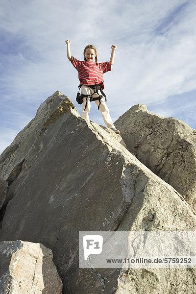 7 Jahre alten Mädchen Klettern  Kanada.