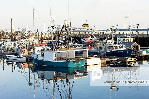 North Head Harbour Kai  Grand Manan Island  Bucht von Fundy  New Brunswick  Kanada