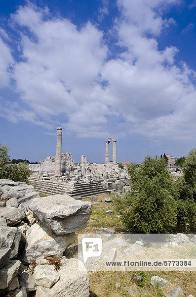 Didyma  einer antiken Ionischen Heiligtum  in modernen Didim (Türkei)  der Tempel des Apollon  der Didymaion enthält.