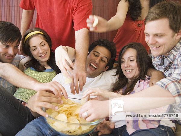 Freundschaft  essen  essend  isst