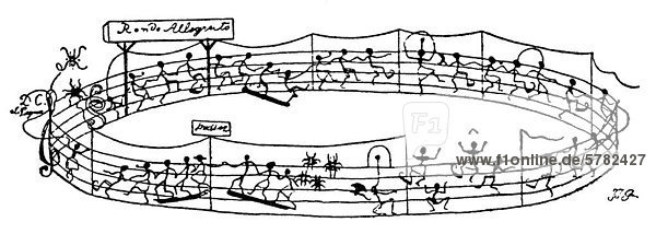 rondo fig rliche noten historische karikatur von grandville oder jean ignace isidore g rard. Black Bedroom Furniture Sets. Home Design Ideas