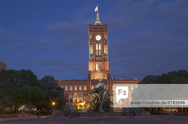 Rotes Rathaus  Berlin  Deutschland  Europa