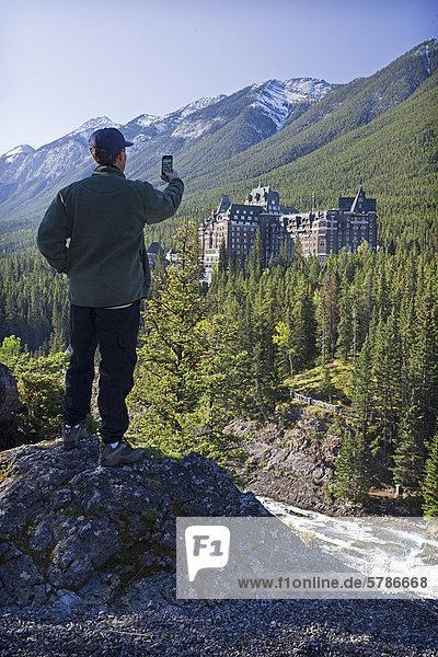Quelle Fotografie nehmen Tourist Lodge Landhaus Smartphone