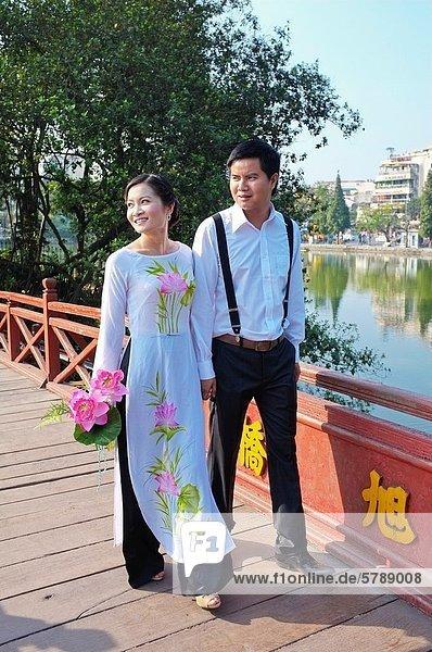 Hanoi  Hauptstadt  Hoan-Kiem-See  Vietnam