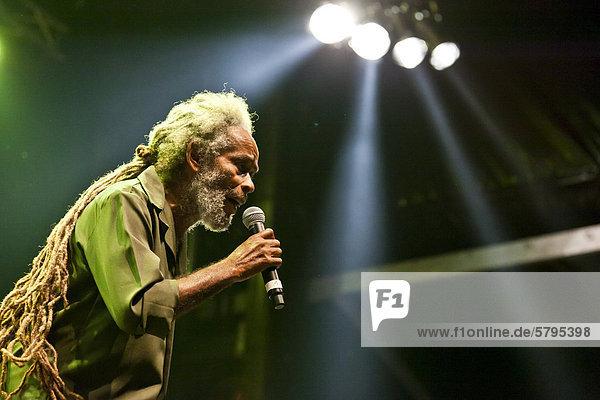 Der jamaikanische Reggae-Sänger Max Romeo live beim Soundcheck Open Air in Sempach-Neuenkirch  Luzern  Schweiz  Europa