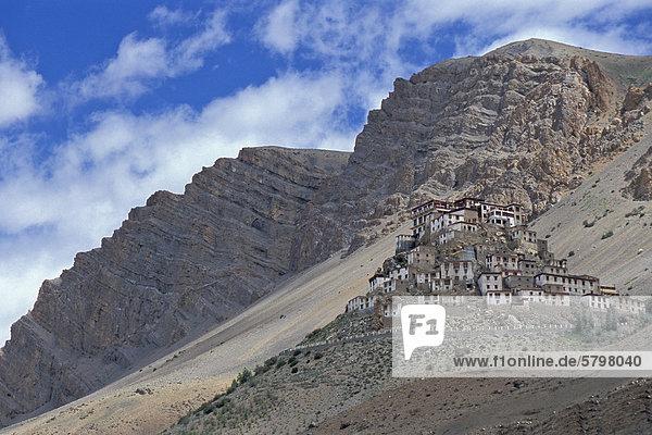 Buddhistisches Kloster oder Gompa Ki  Spiti-Tal  Lahaul und Spiti  indischer Himalaya  Himachal Pradesh  Nordindien  Indien  Asien