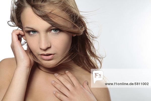 Attraktive junge Frau  Porträt