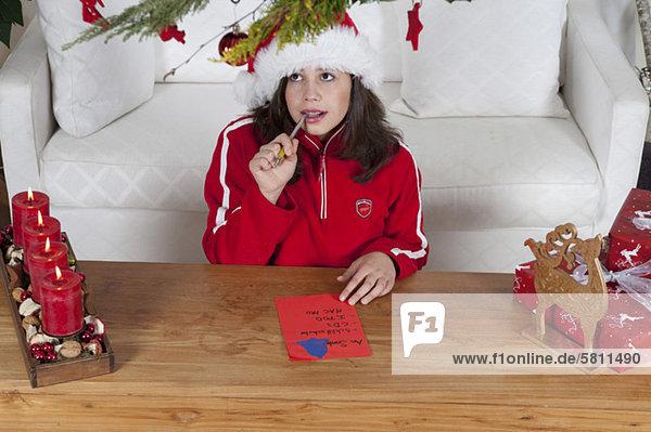 schreiben Wunsch Weihnachten Liste Mädchen