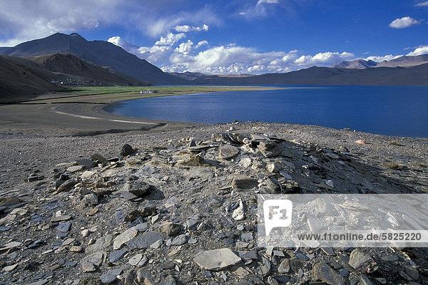 Korzokü auch Karzok oder Kurzok am Tso Moririü Ladakhü indischer Himalayaü Changthangü Jammu und Kaschmirü Nordindienü Indienü Asien