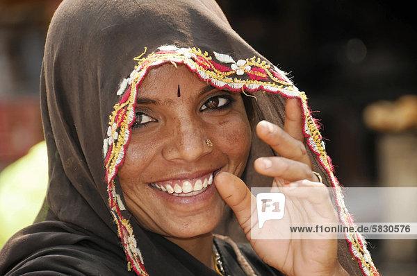 Junge Inderin,  Portrait,  Kota,  Rajasthan,  Nordindien,  Asien