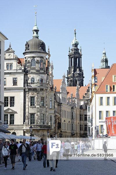 Schlossstraße  Dresden  Sachsen  Deutschland  Europa