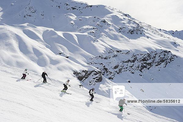 Zusammenhalt Skisport Ski Hang