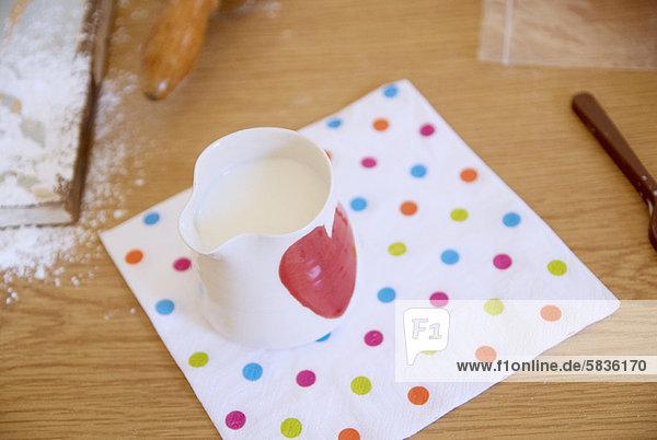 Handtuch  Küche  Kanne  Milch