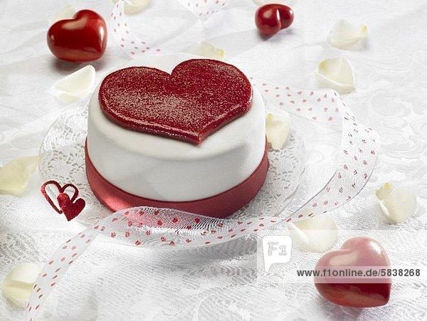 Herztorte zum Valentinstag