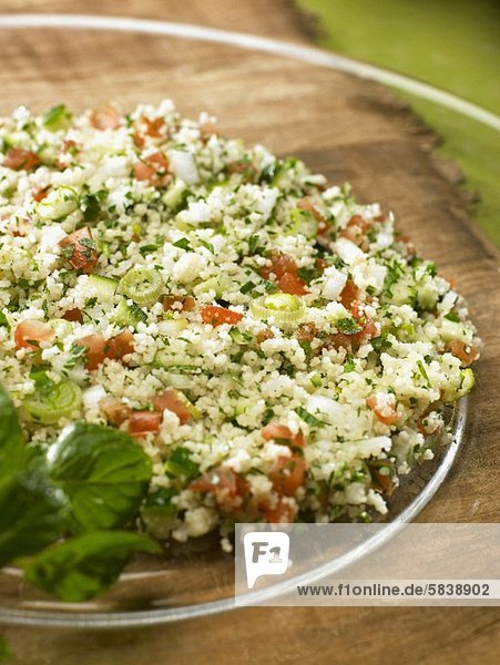 Tabbouleh (couscous with herbs  spices and tomatoes)