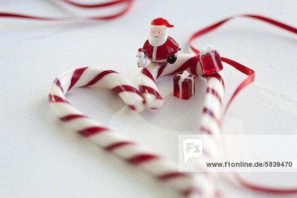 Weihnachtsmann Glas Figur Dekoration