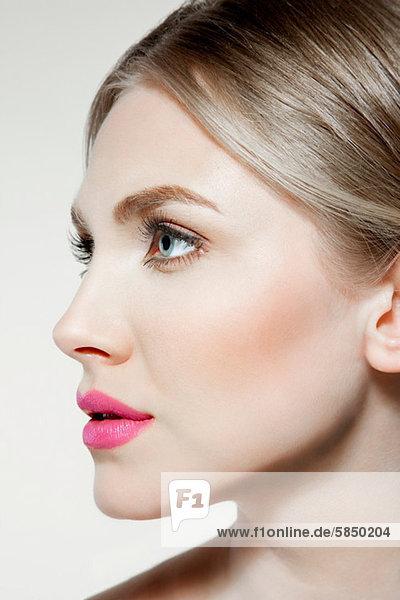 Gesicht  Portrait  Mund der jungen Frau