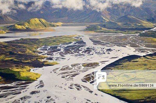 Volcanic landscape  Landmannalaugar  (aerial)  Iceland