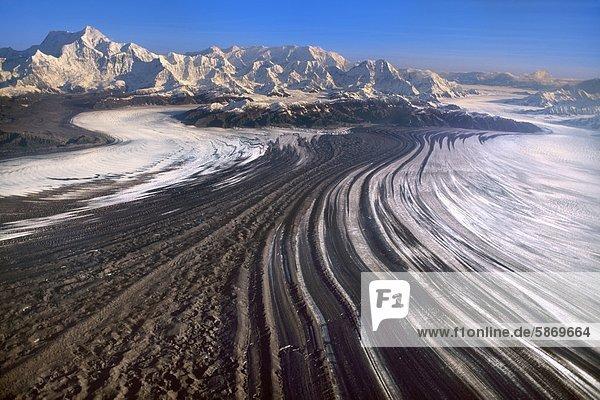Malaspina-Gletscher  Luftaufnahme  Wrangell-St.-Elias-Nationalpark  Alaska  USA