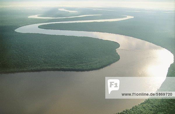 Iguacu Fluss Luftaufnahme  Nationalpark Iguacu  Brasilien