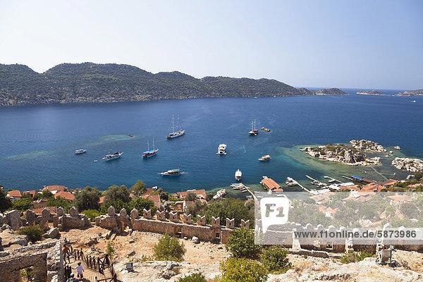 Großstadt Ansicht sinken Kekova Mittelmeer Türkei lykischen Küste Großstadt,Ansicht,sinken,Kekova,Mittelmeer,Türkei,lykischen Küste