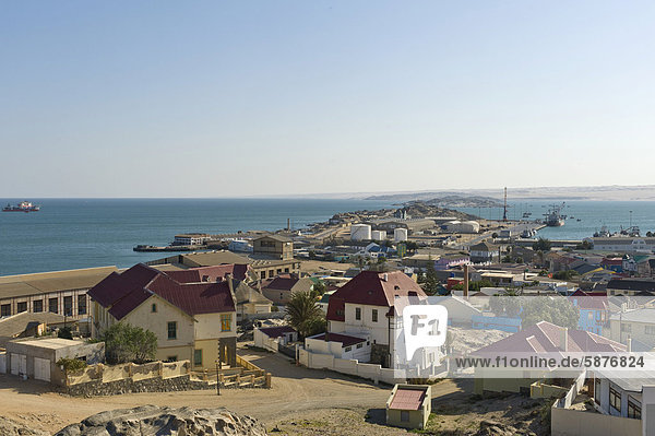 City and port of Luederitz  Namibia  Africa