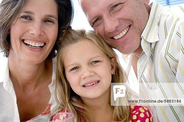 Portrait  lächeln  Mittelpunkt  Tochter  Erwachsener