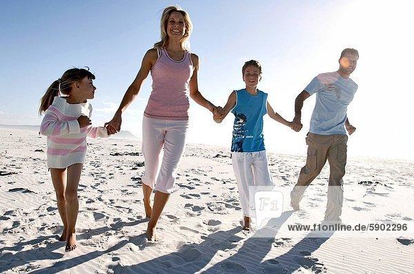Portrait  Strand  rennen  halten  Mittelpunkt  2  Erwachsener