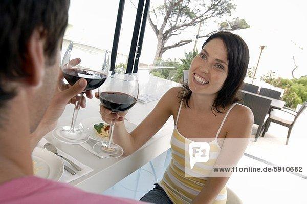 Wein  Mittelpunkt  Erwachsener