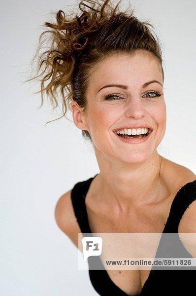 Portrait  Frau  lächeln  jung