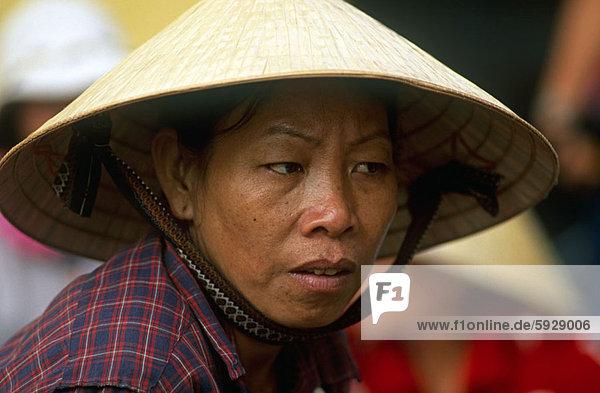 hoch  oben  nahe  Frau  Mittelpunkt  Erwachsener  Vietnam