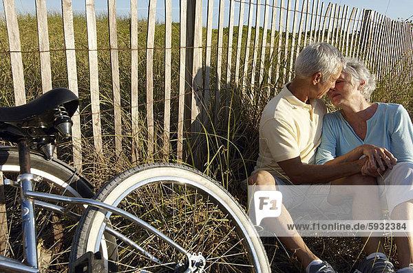 Senior  Senioren  umarmen