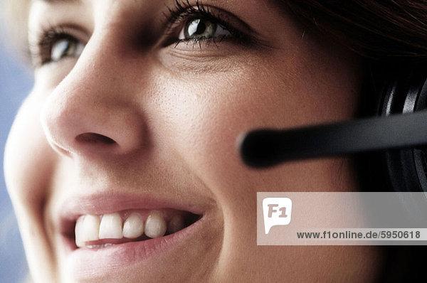 Geschäftsfrau  Headset  Close-up  close-ups  close up  close ups  Kleidung