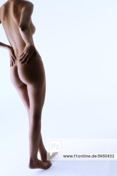 hinter  niedrig  Anschnitt  Frau  Rückansicht  Ansicht  jung  nackt