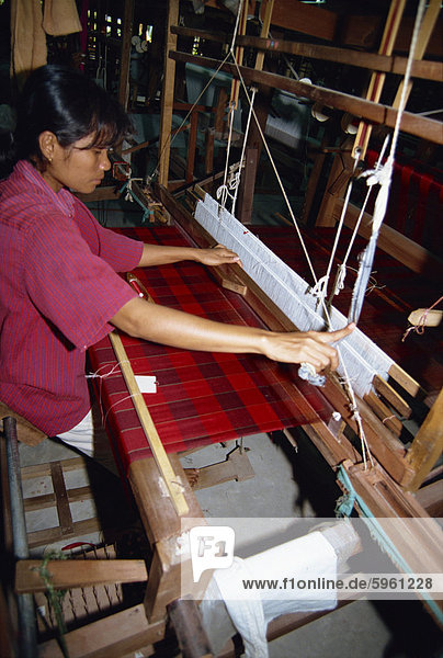 Seidenindustrie  Chiang Mai  Thailand  Südostasien  Asien