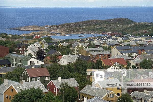 Blick vom Turm in Varde  Kristiansund  Norwegen  Skandinavien  Europa