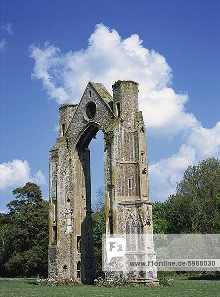 Abbey Ruinen  kleine Walsingham  Norfolk  England  Vereinigtes Königreich  Europa