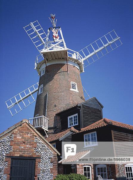 Cley Mühle  Cley Next Sea  Norfolk  England  Großbritannien  Europa