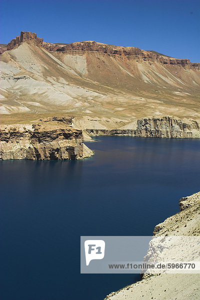 Band-I-Zulfiqar the main lake  Band-E- Amir (Bandi-Amir) (Dam of the King) crater lakes  Afghanistan's first National Park  Bamian province  Afghanistan  Asia