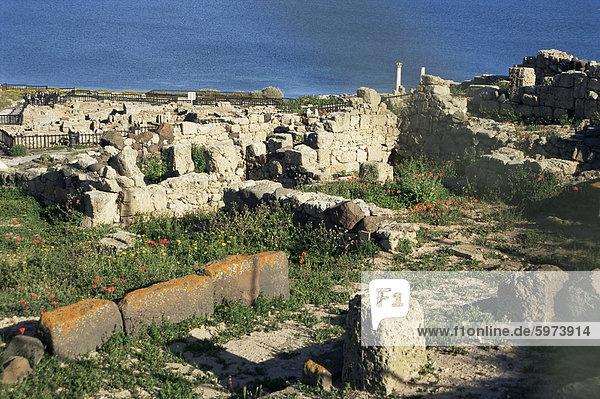 Europa Großstadt Ruine Italien römisch Sardinien