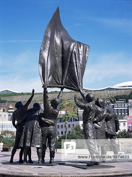 Befreiung Statue  St. Helier  Jersey  Kanalinseln  Großbritannien  Europa