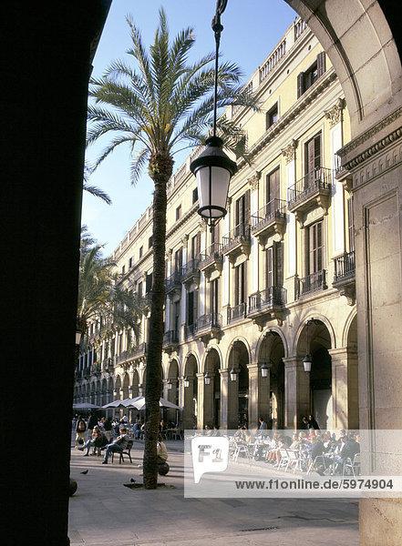 Plaça Reial  Barcelona  Katalonien (Cataluna) (Katalonien)  Spanien  Europa