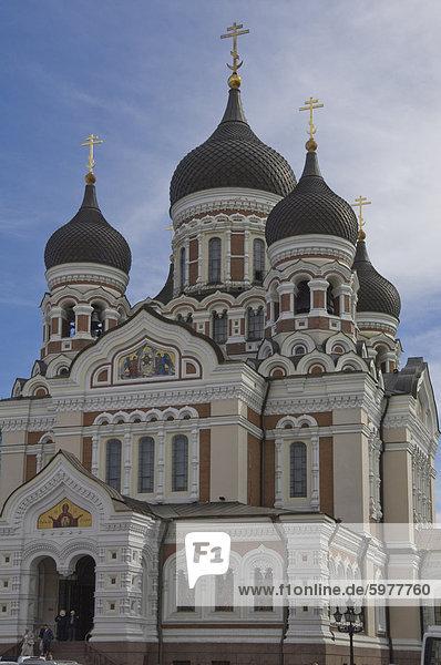Alexander Nevsky Russisch-Orthodoxe Kathedrale  Tallin  Estland  Baltikum  Europa