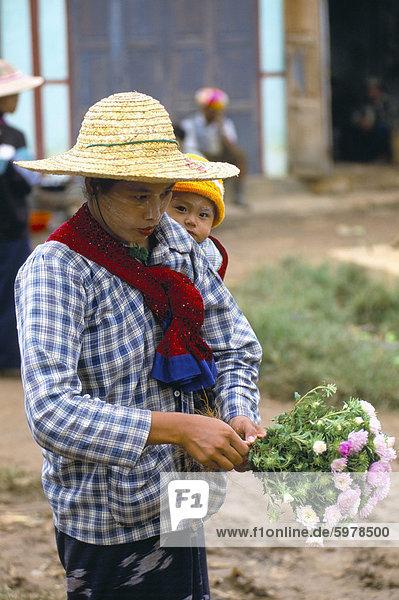 Market  Heho  Shan State  Myanmar (Burma)  Asia