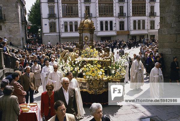 Fronleichnam Prozession  Lugo  Galizien  Spanien  Europa