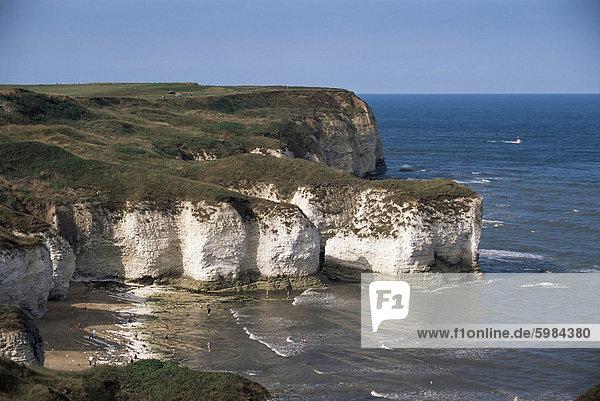 Flamborough Head in Ost-Yorkshire  Yorkshire  England  Vereinigtes Königreich  Europa