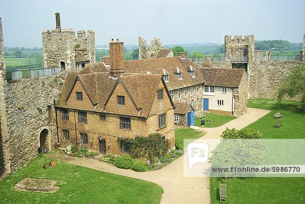 Burg in Framlingham  Suffolk  England  Vereinigtes Königreich  Europa
